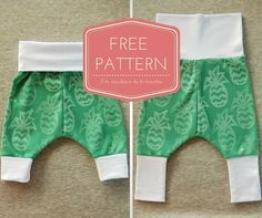 I mentioned the other day that there was a free pattern release coming, well here it is! Our popular grow-with-me harem pants pattern P is for Pirate pants is now available in a newborn to 6 month...