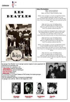Civilisation : Great Britain et Beatles English Class, English Lessons, Teaching English, Les Beatles, Beatles Songs, Read In French, French Songs, British Home, London