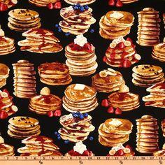 Timeless Treasures Pancakes Black  Item Number: FC-073