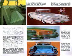 1960 Chevrolet El Camino and Sedan Delivery brochure