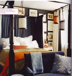 Dark Eclectic Bedroom by decorology, via Flickr