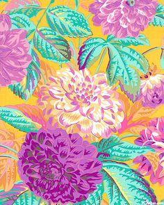'Pom Pom Dahlias' by Phillip Jacobs for Rowan Fabrics.