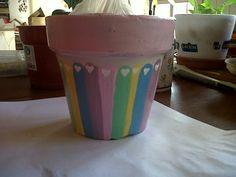 Maceta con colores pastel