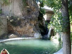 Piscina natural en Letur Albacete Spain