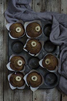 Banana and Almond Butter Muffins