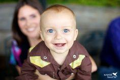 Baby boy with blue eyes.