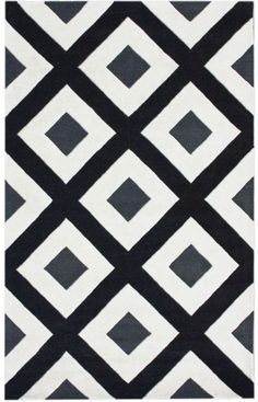Rugs USA Satara Diamonds Black Rug