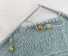 Items similar to Everyday Peacocks Sterling Silver Knitting Tool Set-- The Lily Set: Calla Lily Stitch Holder with Matching Beaded Markers on Etsy Knitting Supplies, Knitting Ideas, Sewing Crafts, Diy Crafts, Big Knits, Stitch Markers, Tool Set, Crochet Projects, Knit Crochet