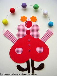 Clown tinker with children on carnival - templates, ideas and instructions . Kids Crafts, Clown Crafts, Crafts For Teens, Diy And Crafts, Paper Crafts, Ideas Scrapbook, Baby Scrapbook, Scrapbook Paper, Circus Theme
