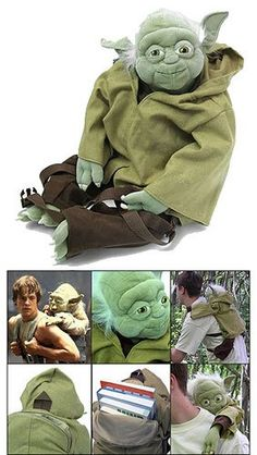 Every kid needs a Yoda Backpack. One of my true fears is that when I show my own kids Star Wars they will be totally unable to grasp the overall awesomeness. Still, this is going to be their backpack. $55