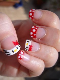 20 Cute Hello Kitty Nail Art Designs - Page 3 of 20 - Beautyhihi Latest Nail Designs, Toe Nail Designs, Nail Polish Designs, Nail Art At Home, Nail Art Diy, Diy Nails, Fancy Nails, Cute Nails, Hello Kitty Nails