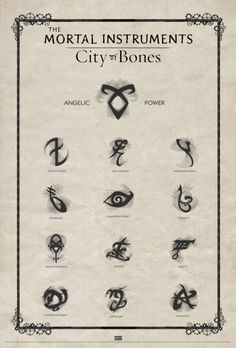 Mortal instruments city of bones symbols  i really enjoy this movie
