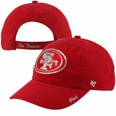 '47 Brand San Francisco 49ers Ladies Sparkle Slouch Adjustable Hat