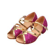 Sparkling Glitter Star Décor Ballroom Dance Sandaler för damer och killing (fler färger) – SEK Kr. 77