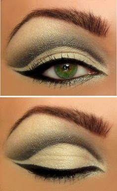 For a similar look with Mary Kay, use White Lily as a base, then blend Lime eyeshadow. Use Black Pearl for the crease, and Jet Black Gel eyeliner.  www.marykay.com/pstrickland15