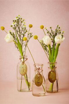 product | Antique Brass Table Numbers from BHLDN | billyball floral arrangement