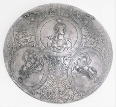 Bowl with female busts in medallions Sassanian, ca. 3rd- 4th Century B.C.