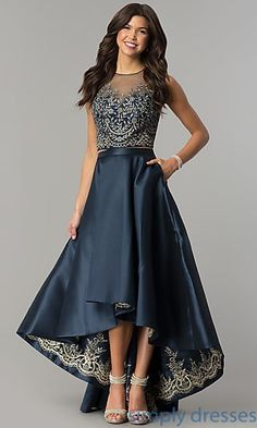 Shop Simply Dresses for long formal dresses like Short formal dresses, prom dresses, cocktail party dresses, evening gowns, casual and career dresses.High-Low Two-Piece Embroidered Prom Dress High Low Prom Dresses, Plus Size Prom Dresses, Homecoming Dresses, Cocktail Bridesmaid Dresses, Long Cocktail Dress, Cocktail Dresses, Casual Dresses, Fashion Dresses, Formal Dresses