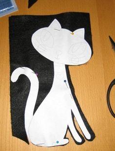 How to DIY Cute Fabric Kitty Cat from Template   www.FabArtDIY.com LIKE Us on Facebook ==> https://www.facebook.com/FabArtDIY