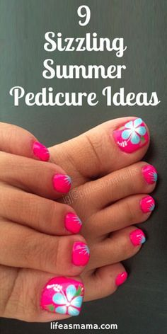 This Cool summer pedicure nail art ideas 19 image is part from 75 Cool Summer Pedicure Nail Art Design Ideas gallery and article, click read it bellow to see high resolutions quality image and another awesome image ideas. Cute Toe Nails, Fancy Nails, Toe Nail Art, Pretty Nails, My Nails, Pretty Toes, Flower Toe Nails, Pink Toe Nails, Bright Toe Nails