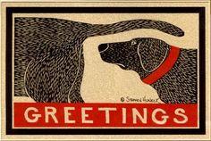 Labrador greeting card designed by Stephen Huneck