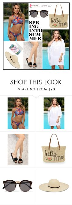 """""""Amiclubwear 16"""" by b-necka ❤ liked on Polyvore featuring Straw Studios, Illesteva and amiclubwear"""