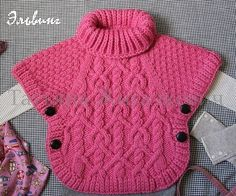 Veronica crochet y tricot. Knitting For Kids, Crochet For Kids, Baby Knitting Patterns, Baby Patterns, Crochet Baby, Crochet Patterns, Pull Bebe, Crochet Poncho, Baby Sweaters