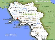 Map of Campania - Naples and Amalfi Coast, Italy