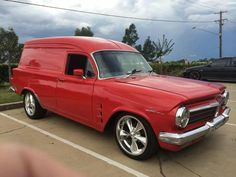 Holden EH Panelvan The Holden EH was an automobile produced by General Motors-Holden's in Australia Australian Muscle Cars, Aussie Muscle Cars, Singer Cars, Station Wagon Cars, Holden Australia, Custom Vans, General Motors, Hot Cars, Van Life