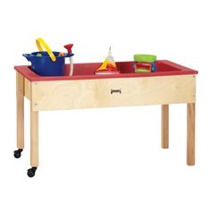 Sensory Tables by Jonti-Craft feature sand and water tables for playful times. Kids will enjoy building sand castles or playing with water. They come with Baltic Birch frames that fit easily through most classrooms doors. Best Water Table, Water Table Toy, Sand And Water Table, Water Tables, Acrylic Tub, 1. Tag, Sensory Table, Storage Shelves, Shelf