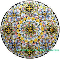 Italian Hand Painted Ceramic Majolica Plate | 47cm Pottery Painting, Pottery Vase, Ceramic Pottery, Ceramic Art, Painted Pottery, Plate Wall Decor, Plates On Wall, Hand Painted Ceramics, Porcelain Ceramics