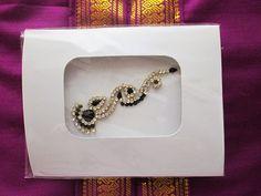Black  Bead Mang Tika Bridal Bindi Crystal Jewelry. by BindisRUs, $6.99