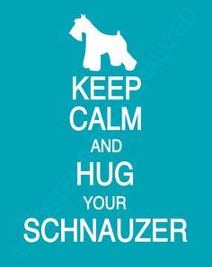 Mantener la calma y abrazar tu Schnauzer por PostersPersonalized