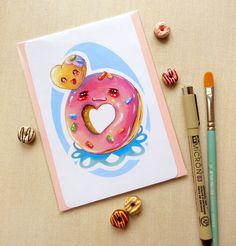 Kawaii Donut & Donut Hole Friends Illustration by BeagleCakesArt, $8.00