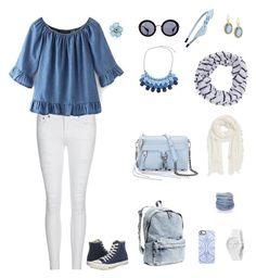 """""""8"""" by sungin-cho on Polyvore featuring AG Adriano Goldschmied, Converse, H&M, Miu Miu, Uncommon, Charlotte Russe, Cara, Modena, Armenta and Chicnova Fashion"""