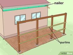 How to Add a Lean To Onto a Shed. When your shed or other storage building no longer provides enough room, you can add additional storage if you add a lean-to onto a shed. If the existing shed is structurally sound and has an exterior wall. Wood Storage Sheds, Firewood Storage, Built In Storage, Bike Storage, Lean To Shed Plans, Diy Shed Plans, Lean To Roof, Clutter Solutions, Small Sheds