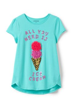 Girls Aline Embellished Graphic Knit Tee
