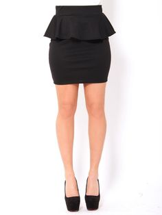 #Peplum Skirt. I would love one in every color!