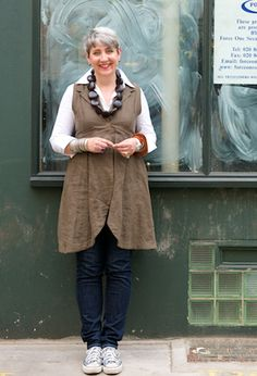 Victoria Jebens, runs a niche Graphic Design company, Jebens Design Limited in West London. She has many favourites, including this Long Scoop Waistcoat in Linen ...