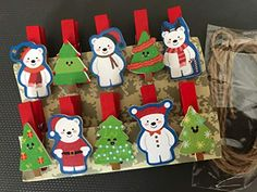 Christmas Bear Clips,Photo Hanging Spring Clip,Pin Clothespins,Photo Pegs for Christmas party Gift favors Decorations,Christmas Ornaments Wooden Clothespins, Wooden Pegs, Hanging Photos, Photo Hanging, Wedding Gift Boxes, Wedding Ideas, Christmas Paper, Amazon Christmas, Christmas Ornaments