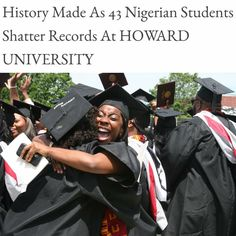 History made as 43 Nigerian students shatter records at Howard University