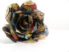 Comic Book Paper Rose