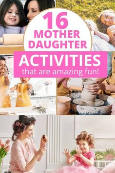 Mother Daughter Date Ideas! Fun mother daughter ideas for a special day together. This is a great list of things to do on a mommy daughter day out. Lots of fun activities for mommy and me date nights and adventures. Great for bonding with your child. This is the perfect list for Mother's Day ideas and special days out with mom. Mom Daughter Dates, Daughters Day, Summer Fun List, Summer Kids, Kids Fun, Bonding Activities, Fun Activities, Mother Daughter Activities, Water Games For Kids