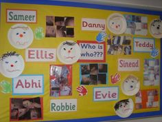 Who is Who Display, classroom display, class display, Ourselves, All About Me, bodies, faces, names, Robbie, Early Years (EYFS), KS1& KS2 Primary Resources