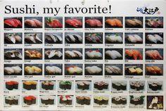 Sushi, my favorite!