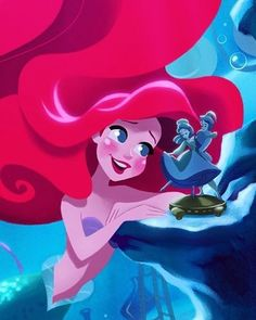 The Little Mermaid:) Disney Ariel Disney, Princesa Ariel Da Disney, Mermaid Disney, Disney Little Mermaids, Ariel The Little Mermaid, Cute Disney, Disney Magic, Princess Drawings, Princess Art