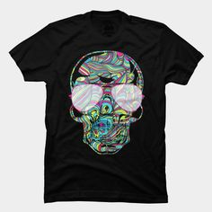 Skull Color Waves T Shirt
