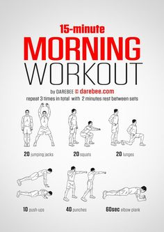 Super short workouts can be very effective for building strength and cardio endurance. This time-efficient bodyweight workout from DAREBEE doesn't require equipment and is perfect for doing at home, in a hotel room, in a dorm room, or even an empty meetin
