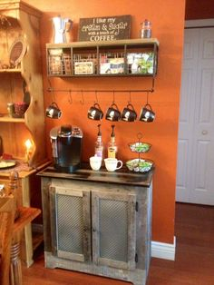 coffee bar ideas Coffee Bar Ideas - Looking for some coffee bar ideas? Here you'll find home coffee bar, DIY coffee bar, and kitchen coffee station. Decor, Bar Decor, Bar Furniture, Coffee Bar Home, Coffee Decor, Kitchen Decor, Creative Furniture, Home Decor, Diy Coffee Bar