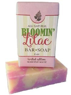 BLOOMIN LILAC Bar Soap ~ LIMTED SEASONAL PRODUCT ~ All Natural Handmade Essential Oils